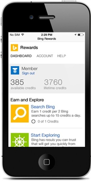 Bing Rewards (iPhone screenshot 002)
