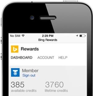 Microsoft's Bing Rewards program now available on iOS