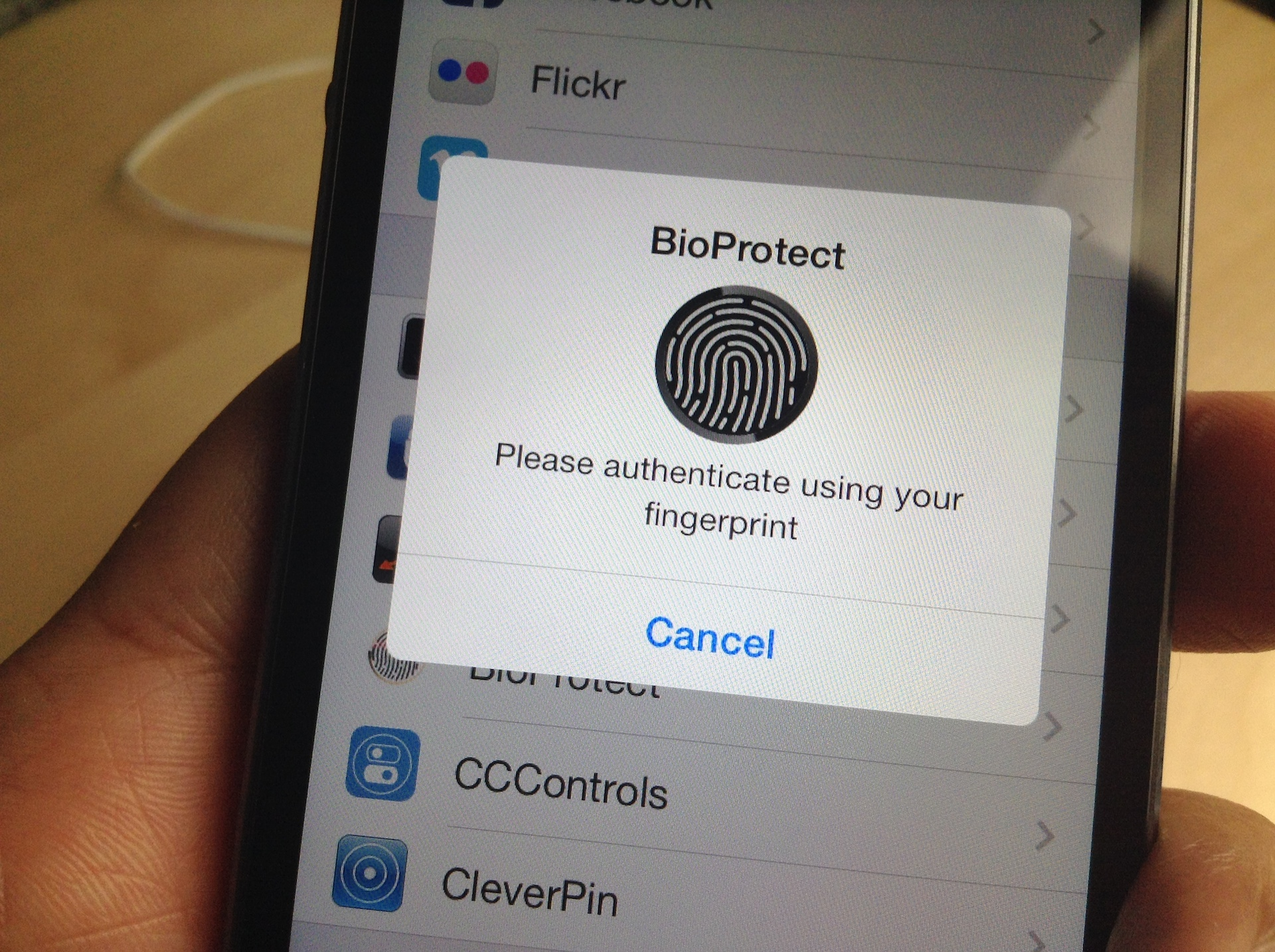 BioProtect: Protect individual apps with Touch ID