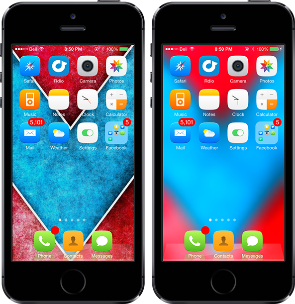 Blurpaper Home Screen iOS 7