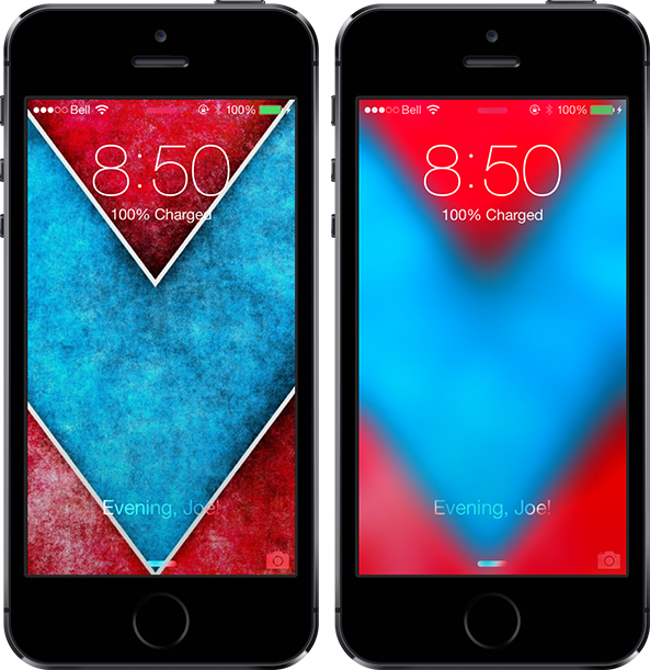 Blurpaper IOS 7 Lock Screen