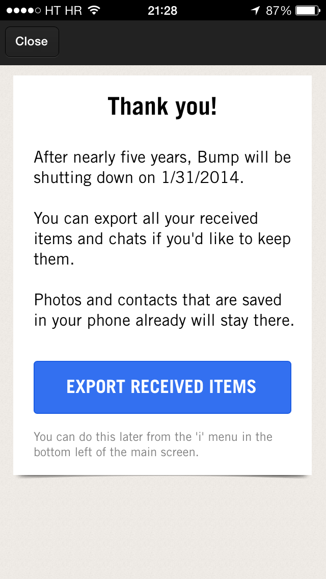 Bump shutdown prompt (iPhone screenshot 001)