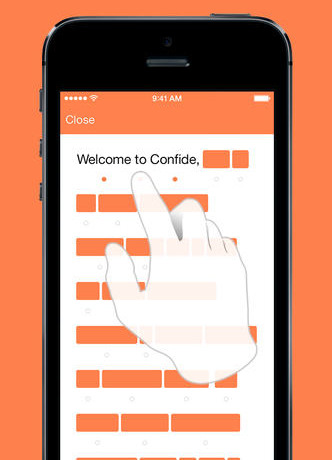 Confide 1.0 for iOS (iPhone screenshot 001)