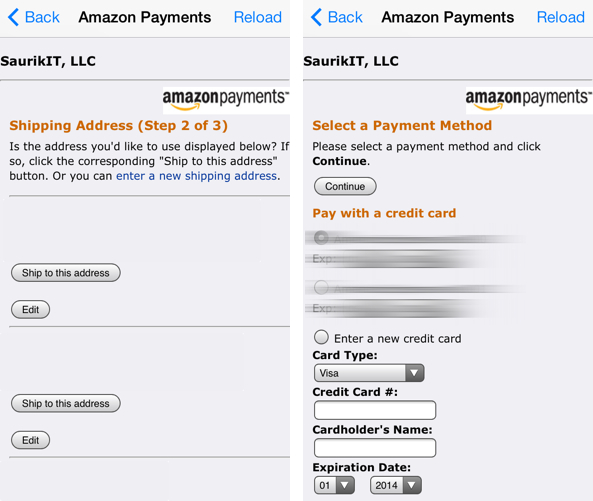 Cydia Amazon Payments
