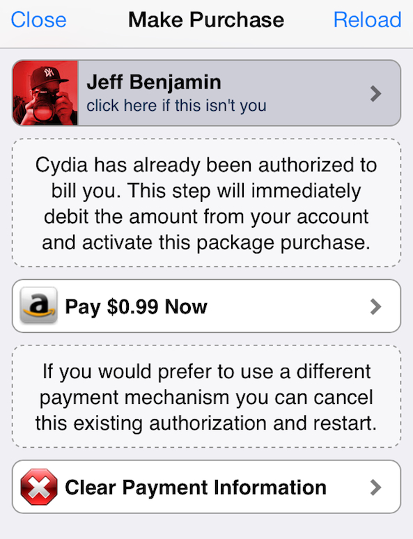 Cydia Payments on File