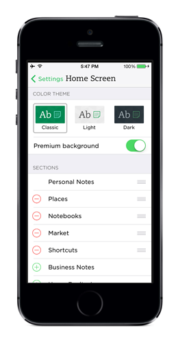Evernote 7.3 for iOS (screenshot 003)