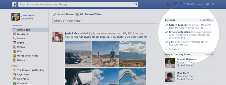 Facebook Trending (web screenshot 001)