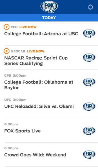 Fox Sports Go 1.1 for iOS (iPhone screenshot 003)