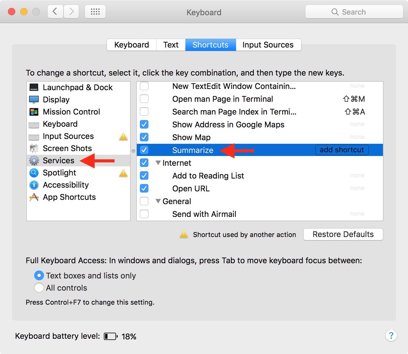 Haz que Mac resuma texto