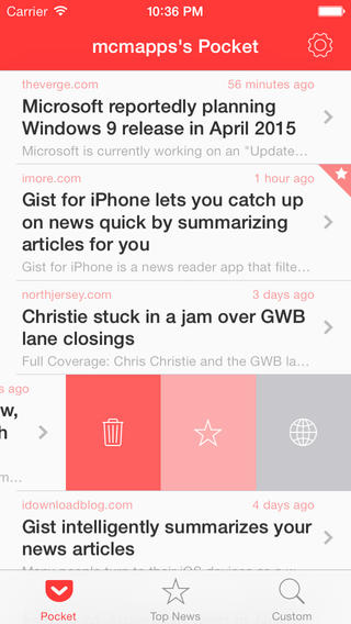 Gist 2.0 for iOS (iPhone screenshot 001)