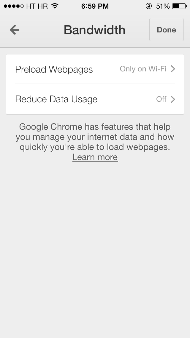 Google Chrome 32 for iOS (Reduce Data Usage 002)