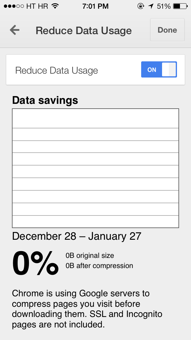 Google Chrome 32 for iOS (Reduce Data Usage 004)