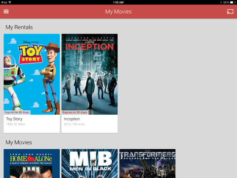 Google Play Movies & TV 1.0 for iOS (iPad screenshot 002)