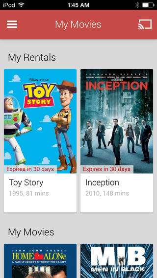 Google Play Movies & TV 1.0 for iOS (iPhone screenshot 002)