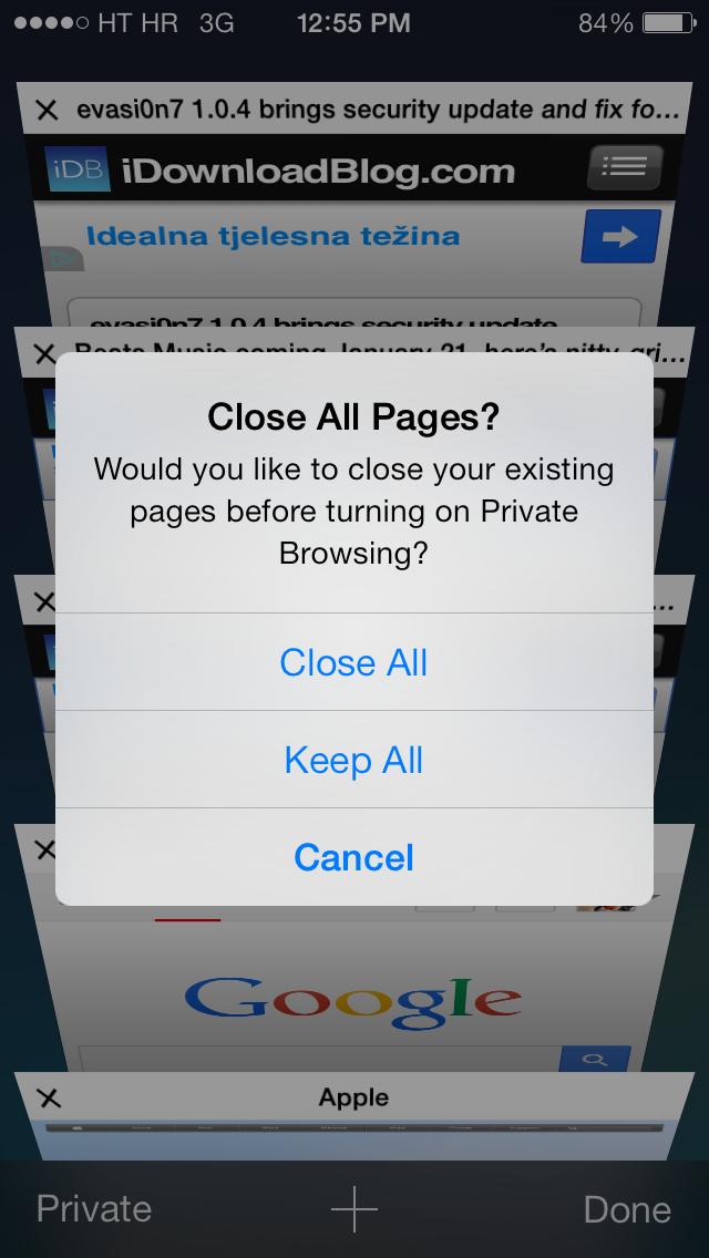 How to (close all Safari tabs, screenshot 002)