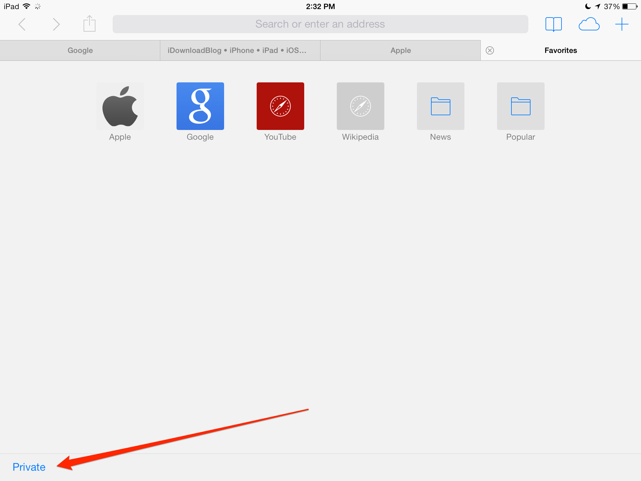 How to (close all Safari tabs, screenshot 007)
