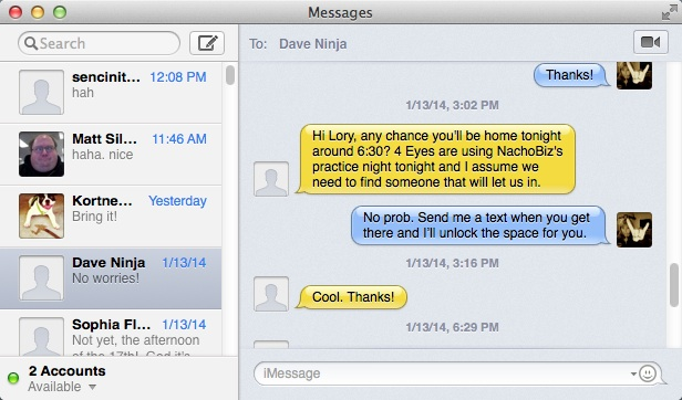 How to set up Facebook Chat in Messages app for OS X