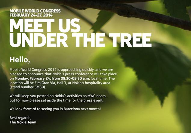 Nokia MWC 2014 invite