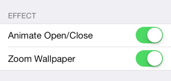 Resized FolderEnhancer iOS 7 effect