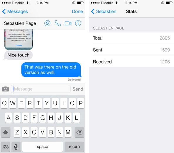 SMS Stats Sebastien