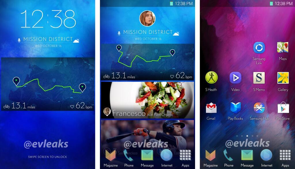 Samsung TouchWiz UI redesign (EVLeaks 001)