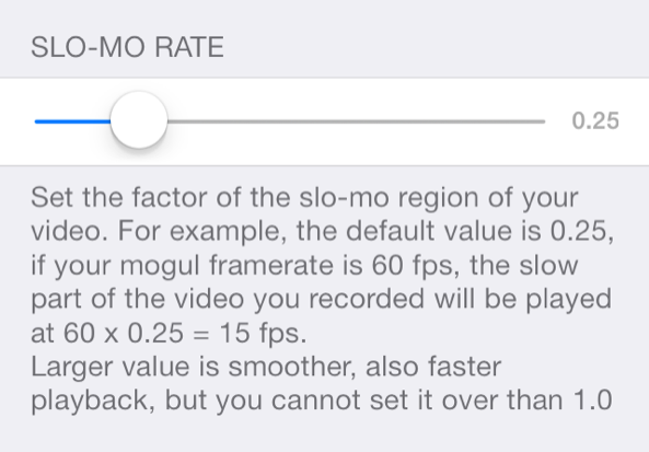 Slo-Mo Rate