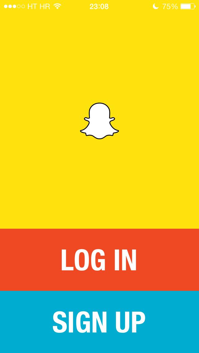 Snapchat (sign up)