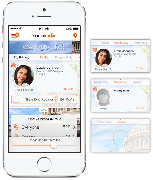 SocialRadar contact cards