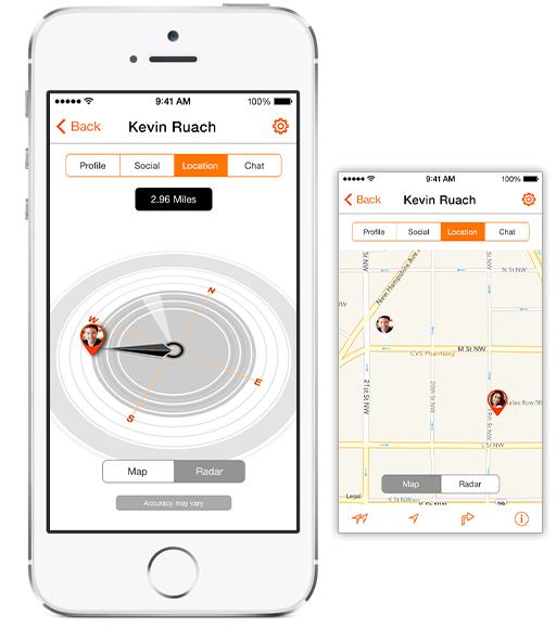 SocialRadar map