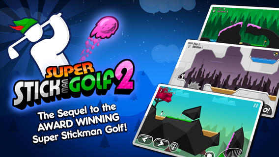 Super Stickman Golf 2 2.1 for iOS (iPhone screenshot 001)
