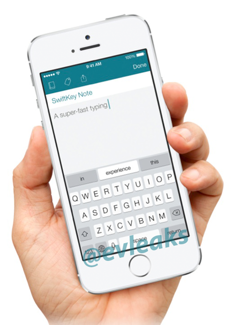 SwiftKey Note for iOS (EVLeaks 001)