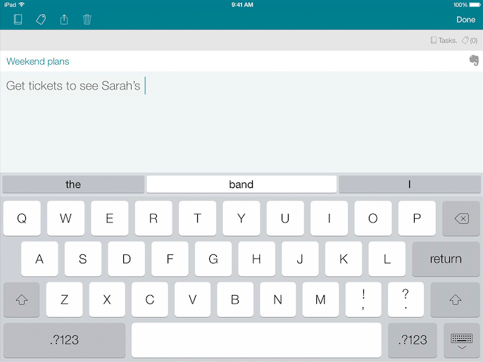 SwiftKey Note (iPad screenshot 001)