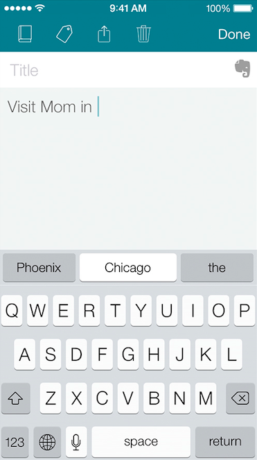 SwiftKey Note (iPhone screenshot 005)