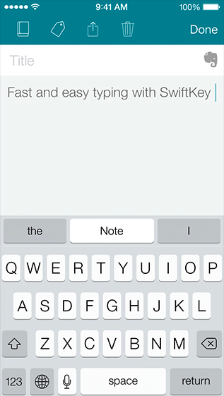 SwiftKey Note (iPhone screenshot 006)