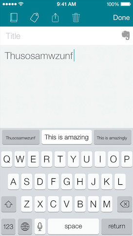 SwiftKey Note (iPhone screenshot 007)