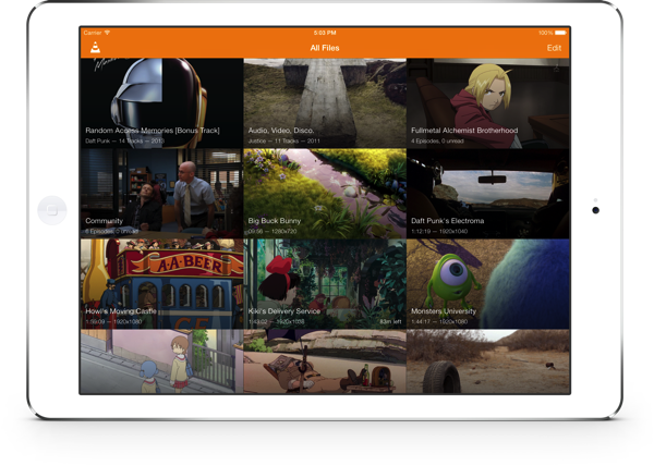 VLC for iOS 2.2 (iPad screenshot 001)