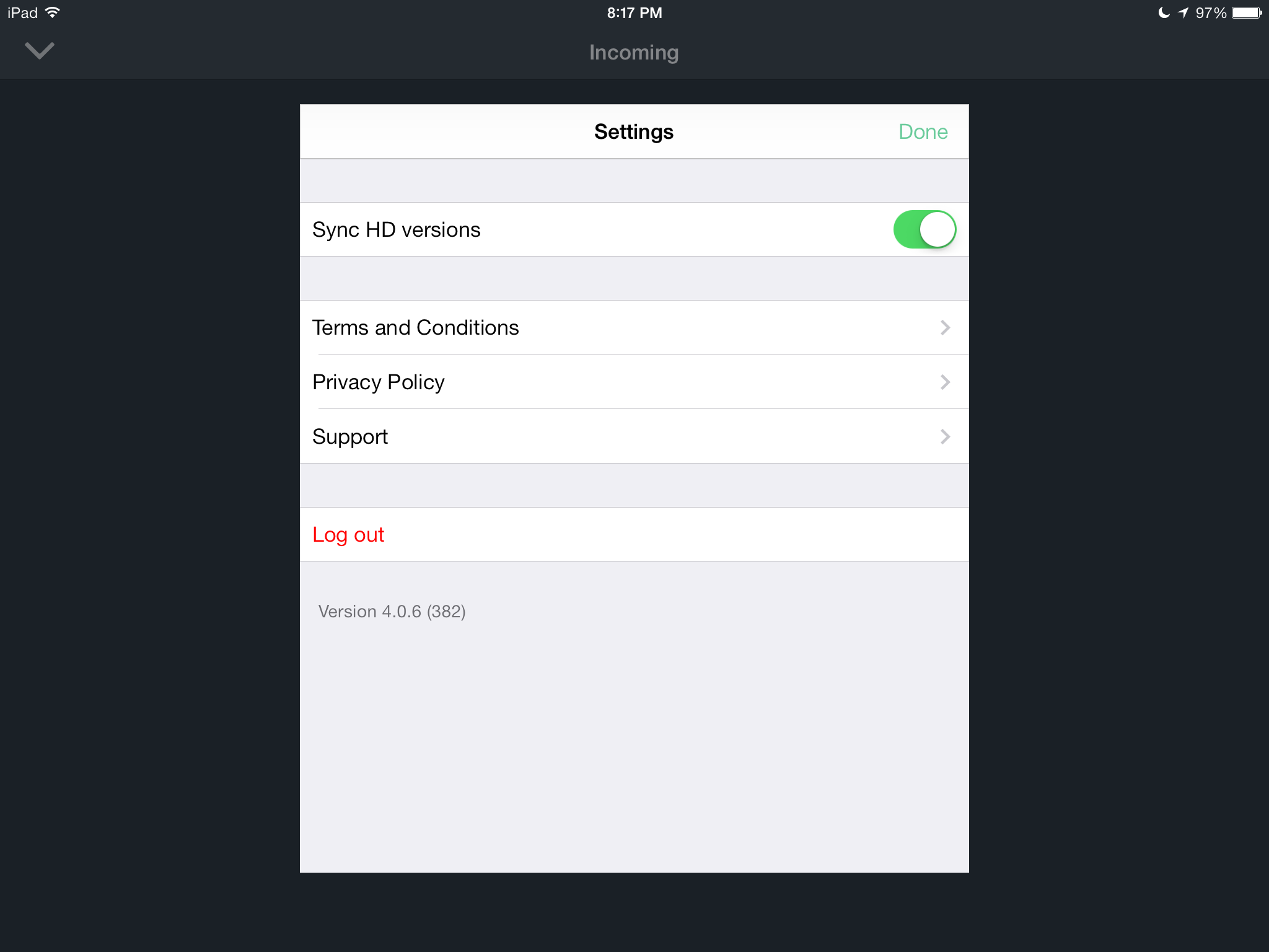 Vimeo 4.0.6 for iOS (iPad screenshot 004)