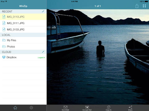 WinZip 3.0 for iOS (iPad screenshot 001)