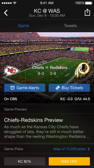 Yahoo Sports 5.0 for iOS (iPhone screenshot 003)