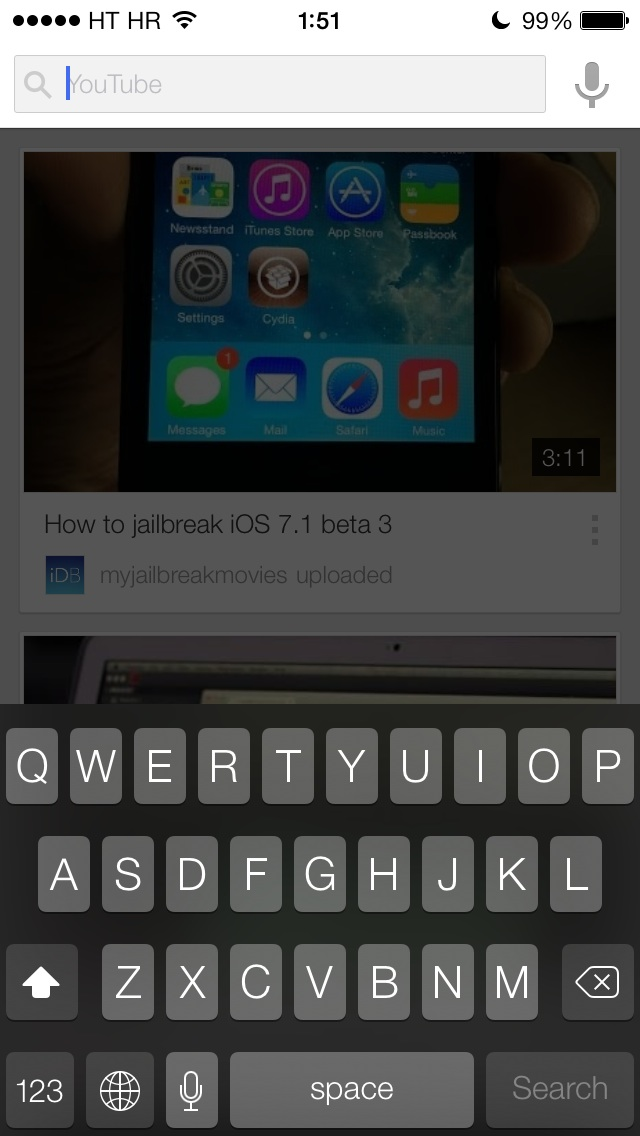 YouTube 2.3 for iOS (iPhone screenshot 001)
