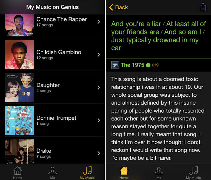 Song Lyrics App For Iphone