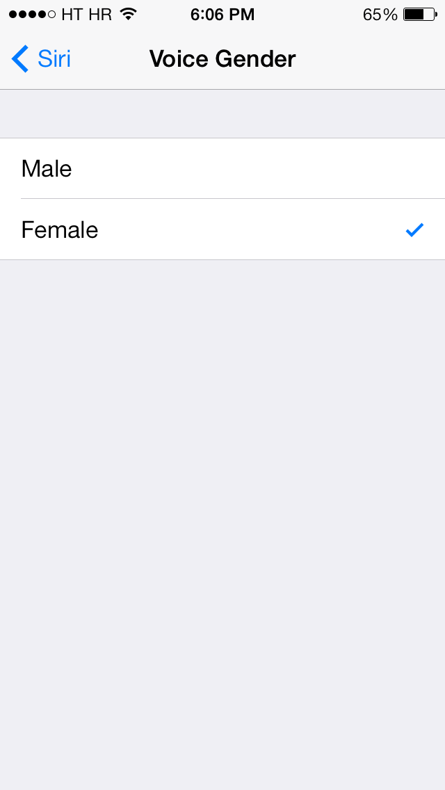 iOS 7.0.4 (Siri language settings, US 002)