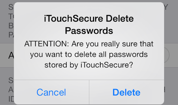 iTouchSecure Delete
