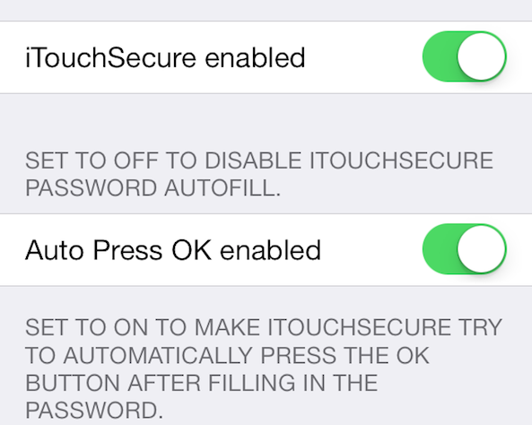 iTouchSecure preferences 01