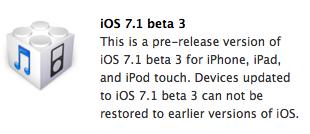 ios 7-1 beta 3