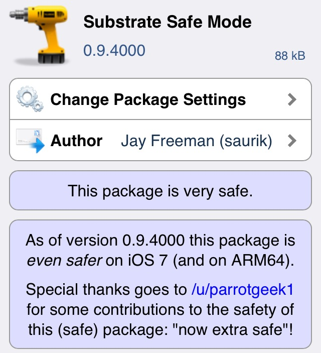 substrate safe mode