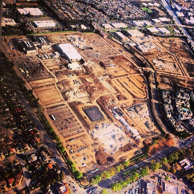 Apple Campus 2 (demolition progress, Ron Cervi)