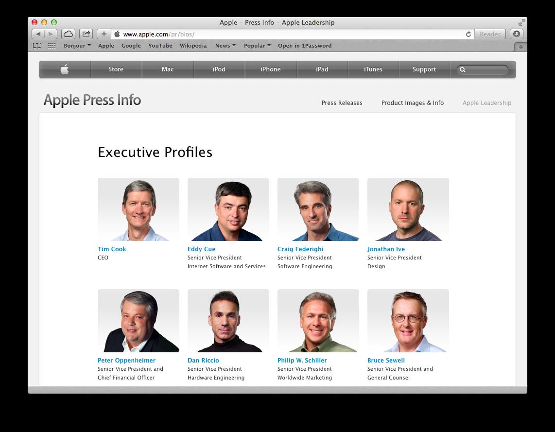Apple Leadership (web screenshot 001)