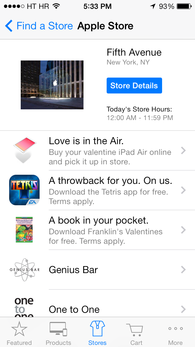 Apple Store app (Tetries freebie 001)