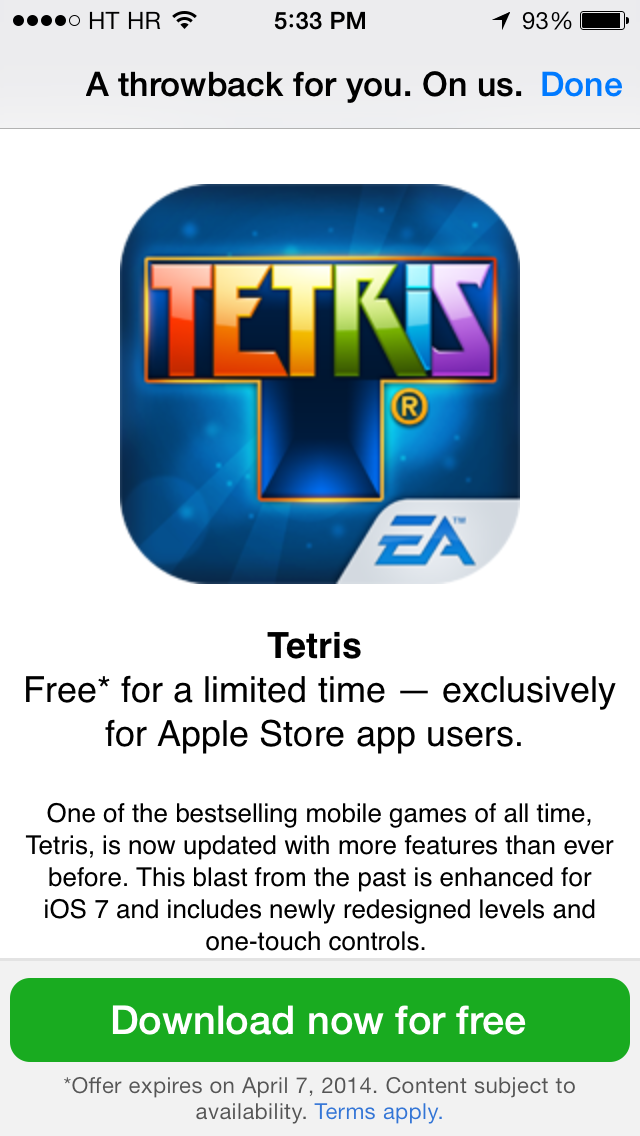 Apple Store app (Tetries freebie 002)
